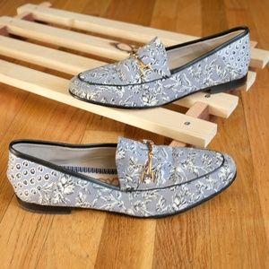 Sam Edelman Women's Flat Loafers Floral Sz 7M